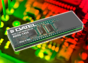 ADSQ-1410 : DATEL Quad Sampling A/D converter combines low noise and excellent dynamic performance for a wide range of image processing applications